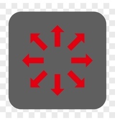 Explode arrows rounded square button vector