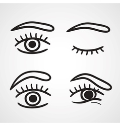 Eyes icons design vector image