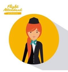 Flight attendant design vector
