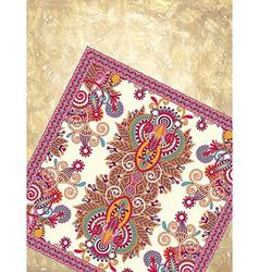 Flower carpet ornamental design vector