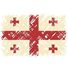 Georgian grunge flag vector