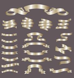 glossy ribbon banners set vector image vector image