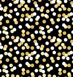 Gold confetti seamless pattern vector