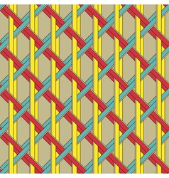 grid weave vector image vector image