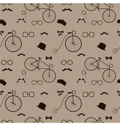 Hipster accessories pattern vector