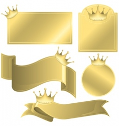 labels with crowns vector image vector image