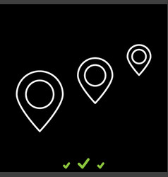 location way it is white icon vector image