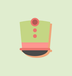 Magic hat in sticker style vector