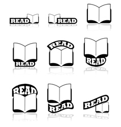 Read icons vector