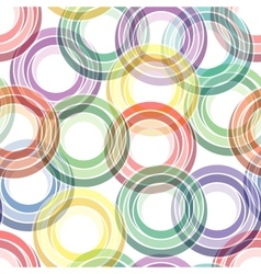 seamless ring pattern vector image vector image