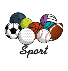 Sport balls isolated icon vector