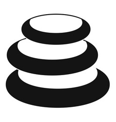 Stack of basalt balancing stones icon vector