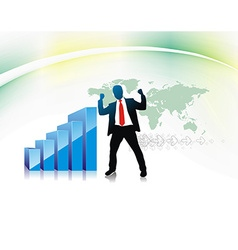 success businessman vector image