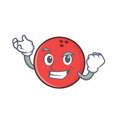 Successful bowling ball character cartoon vector
