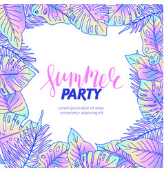 summer party jungle foliage flyer vector image vector image