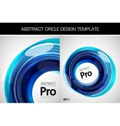 swirl template vector image