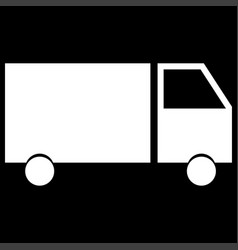 truck the white color icon vector image