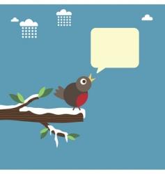 winter robin vector image vector image