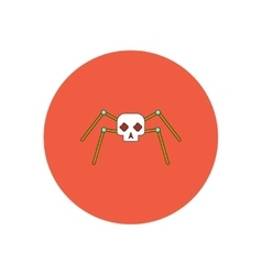 in flat design Halloween icon vector image