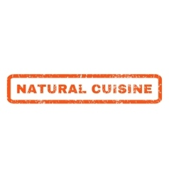 Natural cuisine rubber stamp vector