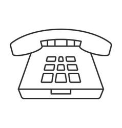 Deskphone thin line icon vector