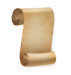 Vertical vintage paper roll or parchment scroll vector