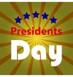 Happy presidents day vector