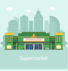 Supermarket or grocery store concept vector