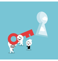 Key for Solving Problem vector image