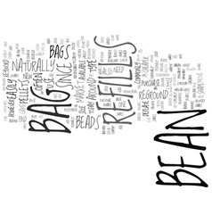 Bean bag sofa text background word cloud concept vector