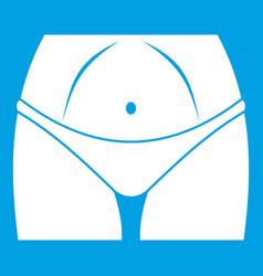 Slim woman body in panties icon white vector