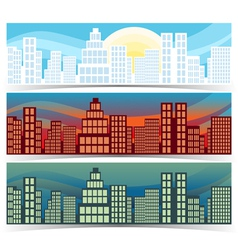 Downtown banners vector