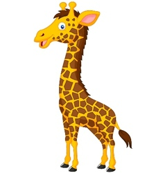 Giraffe cartoon vector