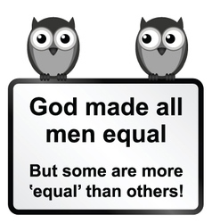 All men equal vector image