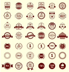 Variety Designs Retro Vintage Badges vector image