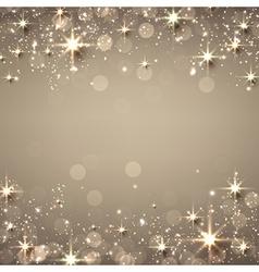Christmas golden starry background vector