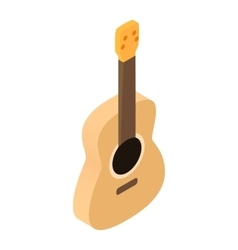 Acoustic guitar isometric 3d icon vector