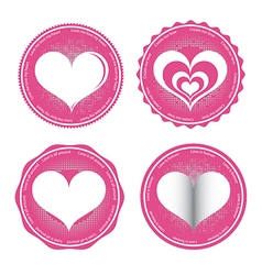 Label of love symbol vector