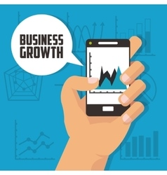 Business growth design vector