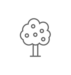 Fruit tree line icon vector
