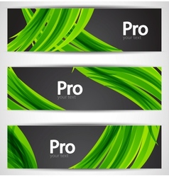 Nature wave banners vector