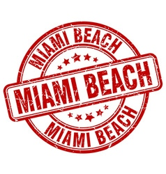 Miami beach stamp vector