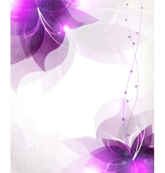 Abstract lilac flowers vector