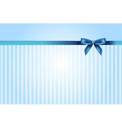 blue background with bow vector image vector image