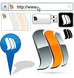 Business sails abstract logo design vector