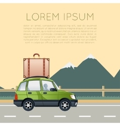 Car travel banner vector image vector image