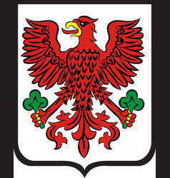 coat of arms of gorzow wielkopolski city in vector image