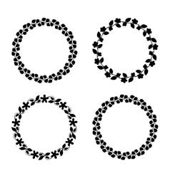 Cute laurel wreaths vector image