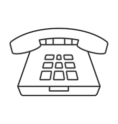 Deskphone thin line icon vector