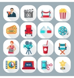 Film shooting icons set vector